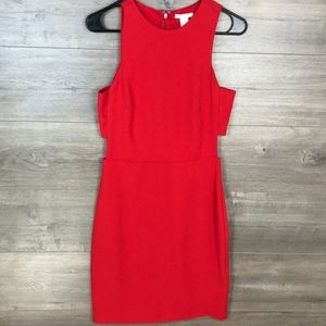 H&M Mini Red Cutout Dress